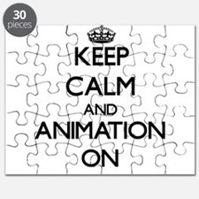 Keep calm and Animation ON Puzzle