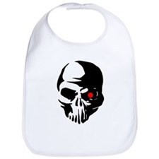 Cyborg Terminator Cyber Robot Tech Skull Intel Bib
