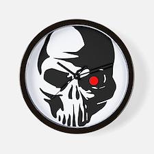 Cyborg Terminator Cyber Robot Tech Skul Wall Clock