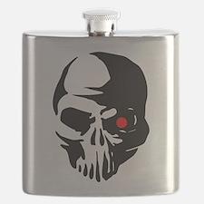 Cyborg Terminator Cyber Robot Tech Skull Int Flask