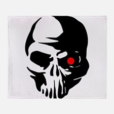 Cyborg Terminator Cyber Robot Tech S Throw Blanket