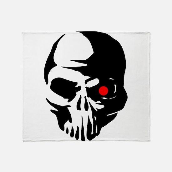 Cyborg Terminator Cyber Robot Tech S Throw Blanket