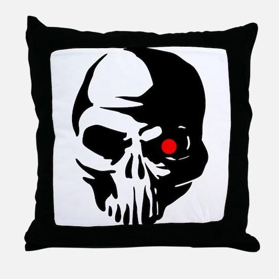 Cyborg Terminator Cyber Robot Tech Sk Throw Pillow