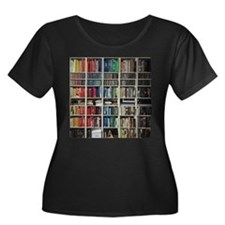 colorful library 2 Plus Size T-Shirt
