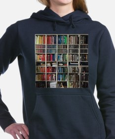colorful library 2 Women's Hooded Sweatshirt