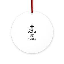 Keep Calm ER Nurse Ornament (Round)