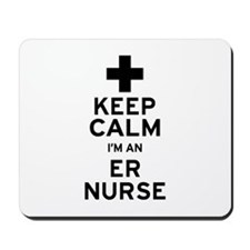Keep Calm ER Nurse Mousepad