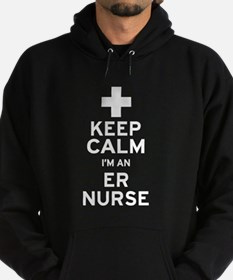 Keep Calm ER Nurse Hoodie (dark)