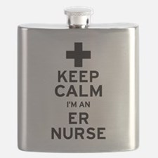 Keep Calm ER Nurse Flask