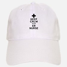 Keep Calm ER Nurse Baseball Baseball Cap