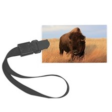 Bison on the plains Luggage Tag