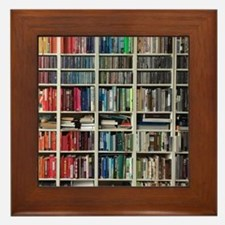 colorful library 2 Framed Tile