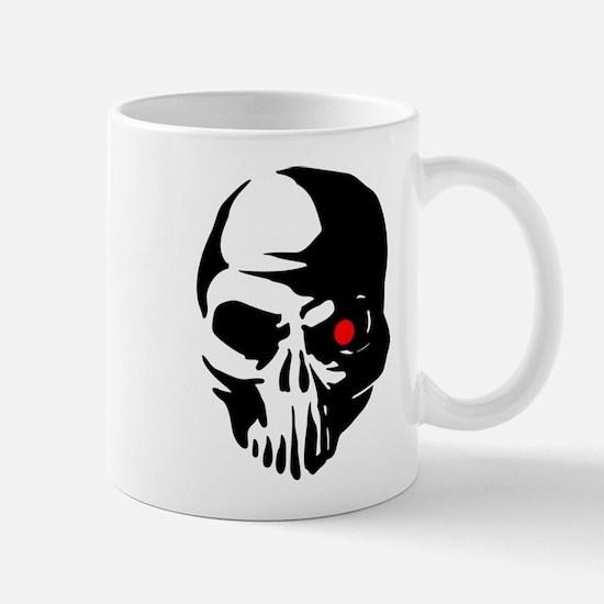 Cyborg Terminator Cyber Robot Tech Skull Inte Mugs