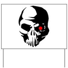 Cyborg Terminator Cyber Robot Tech Skull Yard Sign