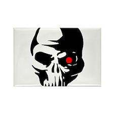 Cyborg Terminator Cyber Robot Tech Skull I Magnets
