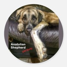 Anatolian Shepherd - Off Duty Round Car Magnet