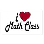 I Love Math Class (Back to School) Sticker (Rectan