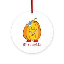Lil' Pumpkin Flower Ornament (Round)