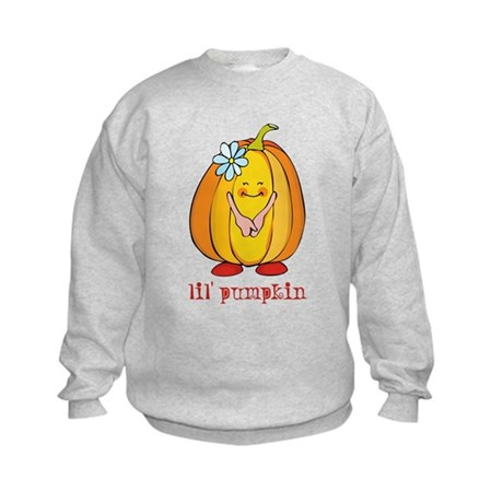 Lil' Pumpkin Flower Kids Sweatshirt
