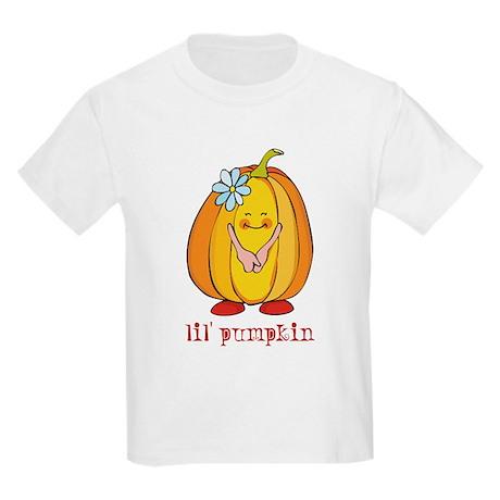 Lil' Pumpkin Flower Kids Light T-Shirt