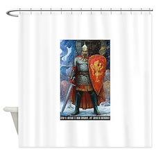 Alexander Nevsky Russian Commander, Shower Curtain