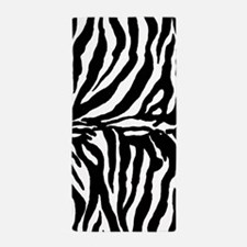 Zebra stripes, black Beach Towel