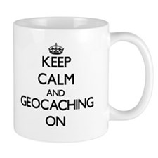 Keep calm and Geocaching ON Mugs