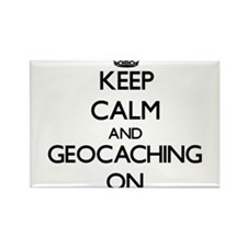 Keep calm and Geocaching ON Magnets