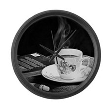 Cup of Tea Large Wall Clock