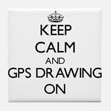 Keep calm and Gps Drawing ON Tile Coaster