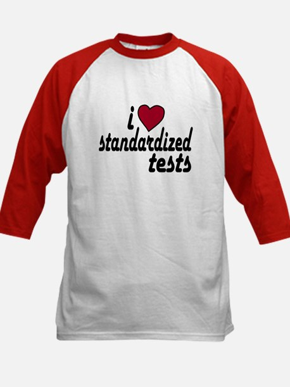 I Love Standardized Tests Kids Baseball Jersey
