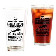 ScubaGrandpaK Drinking Glass