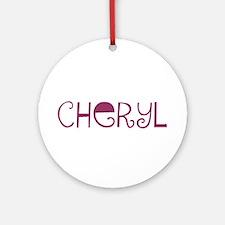 Cheryl Ornament (Round)