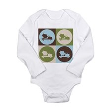 Cute Cement truck Long Sleeve Infant Bodysuit