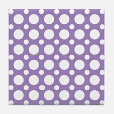Cute Retro dots Tile Coaster