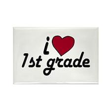 I Love 1st Grade Rectangle Magnet
