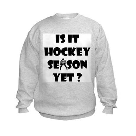 Hockey Season Kids Sweatshirt