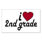 I Love 2nd Grade Rectangle Sticker