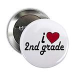 I Love 2nd Grade Button