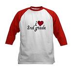 I Love 2nd Grade Kids Baseball Jersey