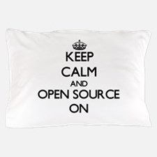 Keep calm and Open Source ON Pillow Case