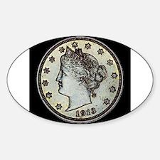 1913 Liberty Nickel Decal
