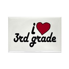 I Love 3rd Grade Rectangle Magnet
