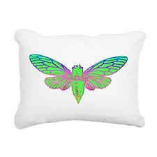 Psychedelic Cicada Rectangular Canvas Pillow