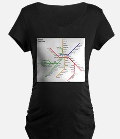 Boston Rapid Transit Map Subway Maternity T-Shirt