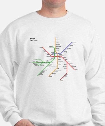 Boston Rapid Transit Map Subway Metro Sweatshirt