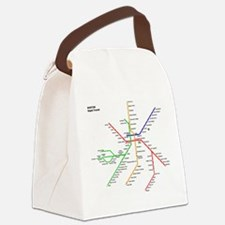 Boston Rapid Transit Map Subway M Canvas Lunch Bag