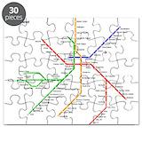 Boston rapid transit subway puzzle Toys