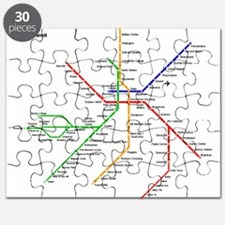 Boston Rapid Transit Map Subway Metro Puzzle