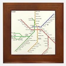 Boston Rapid Transit Map Subway Metro Framed Tile